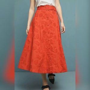 New Anthropologie  Maeve Sandra Belted Skirt